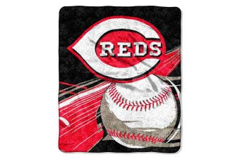 (Cincinnati Reds) - Officially Licenced MLB Big Stick Sherpa Throw Blanket, 130cm x 150cm