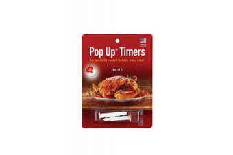 HIC Harold Import Co. 220 Pop-Up Timers for Turkey, Set of 2, Made in America