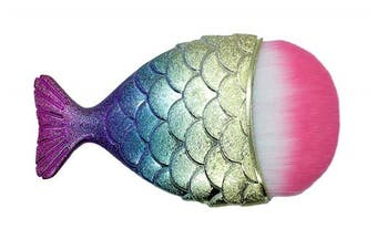 Gorgeous Compact Mermaid Make Up Brush - an ideal stocking filler or gift this Christmas or just pefect to fit into a handbag or make up bag - supplied in a complimentary gift bag!