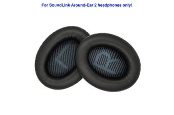 Replacement Ear Cushions for Bose SoundLink Around-Ear 2 Headphones. Complete with Correct Colour and Shaped Scrims with 'L and R' Lettering (SLAE2, Black)