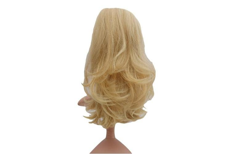 (021 Champagne Blondes) - Vanessa Grey New Hair Piece Clip on Ponytail Extension Long Wavy Pony Low Heat All Colours Clip-on