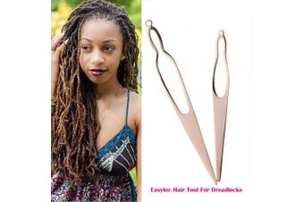 (Rose Gold) - Two Different Size Dreadlocks Tools, EasyLoc Hair Tool For Dreadlocks, Interlocks or Sisterlocks, Starting and Maintaining Your Locs Easy (Rose Gold)