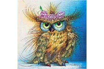 DIY 5D Diamond Painting Kit, Round Diamond Lovely Owl Embroidery Rhinestone Cross Stitch Arts Craft Supply for Home Wall Decor 30cm x 30cm