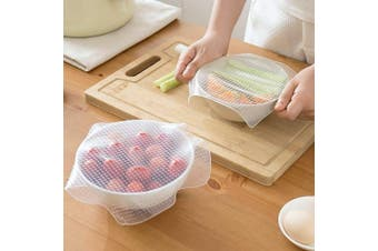 Tong Yue 2Pcs Reusable Silicone Wraps Seal Cover Stretch Cling Film,25x25cm