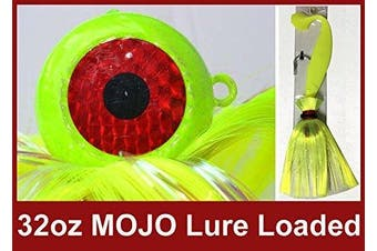 (Chartreuse) - Blue Water Candy Rock Fish Candy 950ml Cannonball Mojo Lure Loaded with 23cm Swimbait Shad Body
