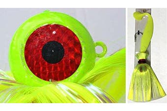(Chartreuse) - Blue Water Candy Rock Fish Candy 710ml Cannonball Mojo Lure Loaded with 23cm Swimbait Shad Body