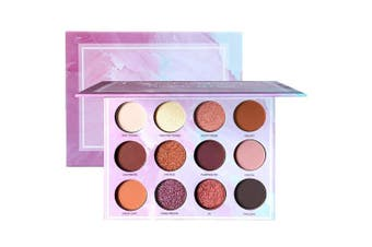 (Earth Color) - Glitter Eyeshadow Palette 12 Colours Pigmented Matte Shimmer Eyeshadow Powder Smoky Warm Eye Shadows Glitter Makeup Kit Nature Nude Earth Tone Cosmetics High Pigment Metallic Mineral Powder Pallet