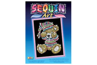 (Teddybär) - Sequin Art Blue, Sleepy Teddy, Sparkling Arts and Crafts Picture Kit, Creative Crafts