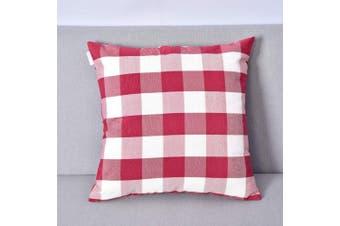 (60cm  x 60cm , Plaids Red&white) - NATUS WEAVER Red White Buffalo Checkers Plaids Square Throw Pillow Cover Decorative Cushion Shams Pillowcase for Bedroom,24 x 24