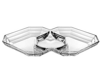 Barski - European Quality - Glass - Three Sectional Serving/Relish Dish - 32cm Long x 22cm Wide - Made in Europe