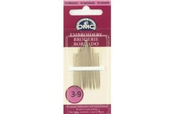 (Size 3/9 16/Pkg) - DMC Hand Sewing Needles - Embroidery size 3/9