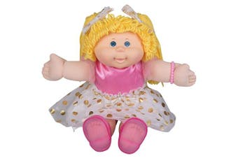 Cabbage Patch Kids Vintage Retro Style Yarn Hair Doll - Original Blonde Hair/Blue Eyes, 41cm - - Easy to Open Packaging