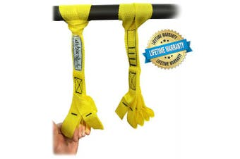 (Yellow) - Core Prodigy Talon Grip - Finger and Thumb Looped Hand and Arm Strengthener. Develop an Eagle Grip!