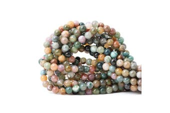 (6mm, Indian Agate) - CHEAVIAN 60PCS 6mm Natural Indian Agate Gemstone Round Loose Beads for Jewellery Making DIY 1 Strand 15""