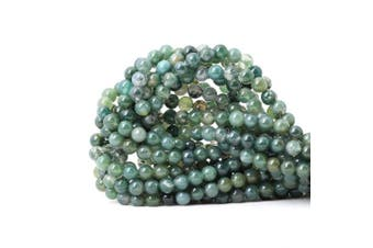 (6mm, Moss Agate) - CHEAVIAN 60PCS 6mm Natural Moss Agate Gemstone Round Loose Beads for Jewellery Making DIY 1 Strand 15""