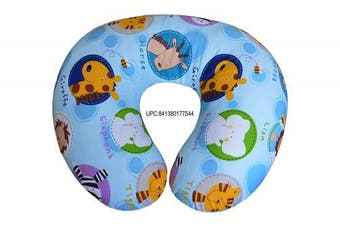 (50cm  x 46cm , Zoo) - Comfortable Printed Cotton Nursing Pillow for Mom and Baby by All American Collection, New Portable, Soft and Light (50cm x 46cm , Zoo)