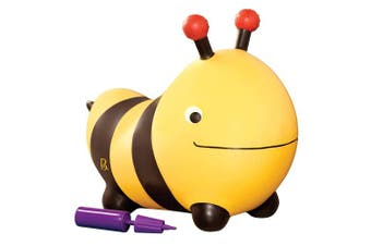 Bizzi The Bumble Bee Inflatable Ride-On Bouncer – Bouncy Boing – BPA Free Soft Riding Toy for Toddlers 18m+