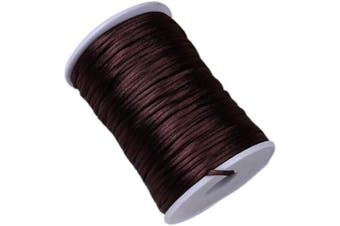 (8) - 2.5mm Satin Cord 109 Yards,Rattail String,Satin Nylon Trim Cord Thread for Chinese Knotting,Kumihimo,Necklace,Bracelet,Beading, Macramé,Jewellery Making,Sewing