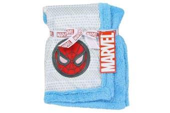 Spider-Man Super Soft Mink/Sherpa Blue Baby Blanket. 80cm x 80cm