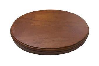 (13cm  x 18cm  Oval) - Luna Bean Wooden Platform Base Display Walnut Finish for Casting Kits - Solid Wood Plaque
