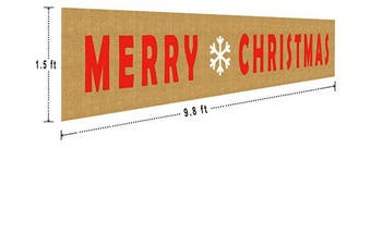 (#1) - Large Merry Christmas Banner Sign Garland Party Props Home Holiday Bunting Banner for Christmas Decoration (3m x 0.5m)