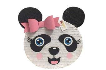 APINATA4U Large Panda Head Pinata with Pink Glitter Bow Accent