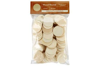 Artlicious - 125 Unfinished Wooden Round Circle Cutouts - 3.8cm Plywood Cutouts