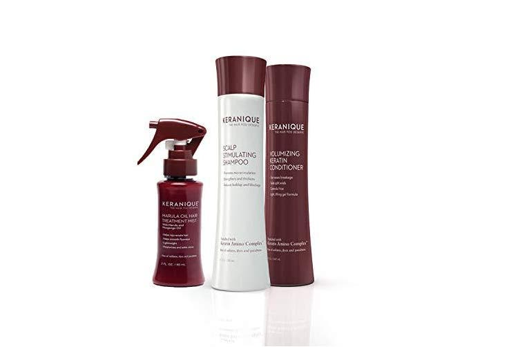 Keranique 60 Day Marula Hair Kit | Shampoo, Conditioner, and Marula Oil Hair Mist | Moisturises and Adds Shine | Free of Sulphates, Dyes and Parabens