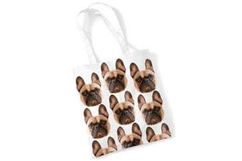 (Printed) - French Bulldog Tote Bag Gifts for Dog Lovers Print Bags with Dogs on