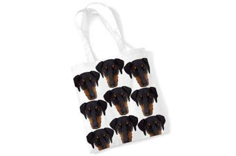 (Printed) - Doberman Tote Bag Gifts for Dog Lovers Print Bags with Dogs on