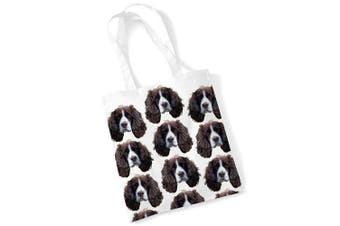(Printed) - Springer Spaniel Tote Bag Gifts for Dog Lovers Print Bags with Dogs on