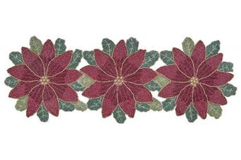 (13x36, Maroon Green Multi) - Glitz sequin & Beads table runner 13x36 Maroon Green Multi,Beaded Table Runner,Decorative Table Runner,Farmhouse Table Runner in Beads,Rustic Table Runner,Christmas Table Runner in Beads Decorations