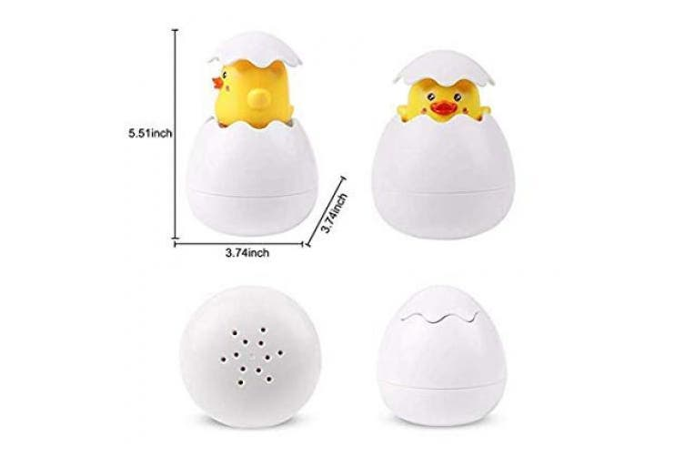 Baby Bath Toys,Spray and Spout Toy,Bathroom Sprinkler Play Water Toy Shower Duck Egg Children's Bath Toy for Babies Toddlers