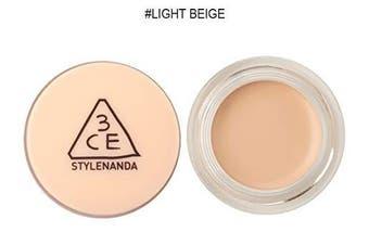 (Light Beige) - 3CE Cover Pot Concealer (6g 5ml) Long Lasting Concealer (Light Beige)