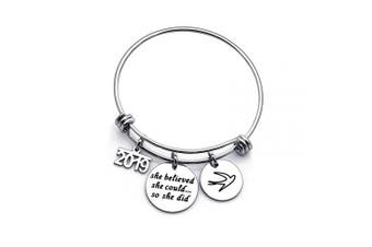 2019 Women Inspirational Bangle Bracelet Birthday Gift for Best Friend Daughter Girlfriend Wife