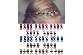 ANBALA Baby Girls Hair Claw Clips Mini Hair Clips Mix Coloured Flower Hair Accessories for baby/little girls