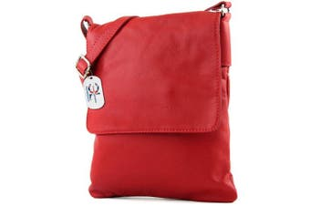 (Red) - Craze London Genuine Italian Leather Verapelle Large Cross body Messenger Bag/Womens Ladies Verappele hand Bags