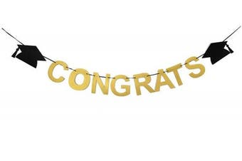 Alemon Congrats Banner DIY Graduation Party Supplies, Class of 2018 Decorations