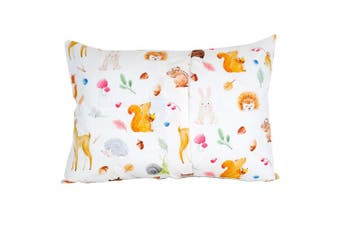 (Woodland Animals) - 100% Organic Toddler Pillowcase by ADDISON BELLE - Fits Both 33cm x 46cm and 36cm x 48cm Pillows - Soft, Durable & Breathable (Woodland Animals)