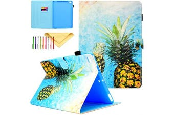(#05 Pineapple) - Uliking iPad Pro 25cm Case 2016, Protective Leather Smart Wallet Case with [Auto Sleep/Wake] Stylus Pen Holder Cartoon Flip Stand Cover for Apple iPad Pro 25cm , Pineapple