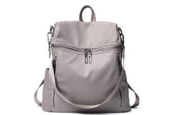 (1-taupe) - Women Backpacks Purse Nylon Fashion Ladies Rucksack Anti-theft Dayback Travel School Shoulder Bags