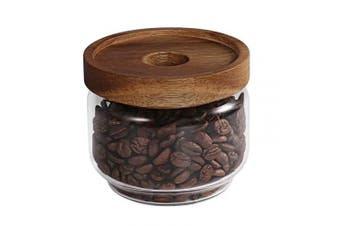 (8.85 Fl Oz (262 Ml)) - 77L Glass Storage Jar, 8.85 FL OZ (262 ML), Glass Storage Jar with Sealed Wooden Lid - Portable Clear Food Storage Jar for Serving Candy, Snack, Honey and More