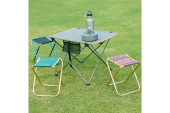 (Green) - Azarxis Mini Camping Stool Chair Seat Folding Low Lightweight Heavy Duty Compact Ultralight Portable for Army Fishing Backpacking Hiking Picnic Lawn Camp Garden for Kids Teens