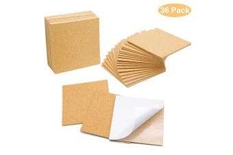 (10cm x 10cm  Square) - Blisstime 36 PCS Self-Adhesive Cork Sheets 10cm x 10cm for DIY Coasters, Cork Board Squares, Cork Tiles, Cork Mat, Mini Wall Cork Board with Strong Adhesive-Backed
