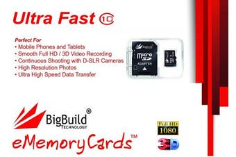 (64GB) - 64GB Ultra Fast 80MB/s Memory Card For Honour 10, 8X, 9 Lite, Play, View Mobile | Class 10 MicroSDXC | BigBuild Technology