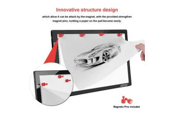 (Touch Control) - AGPTEK Magnetic Tracing A4 LED Light Box Drawing Pad Dimmable Brightness,Touch Control with Memory Function, USB Power Cable for Animation, Designing /USB Adapter /Sketching /Artists