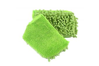 (Spray Mop Pads - Green) - ANSIO 3108 Green Spray Mop Microfiber Pad Double- Sided Reusable Machine Washable - Green