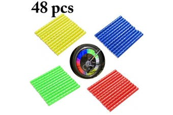 (Multicolor) - Fansport 48PCS Bicycle Spoke Covers Reflective Bike Spoke Skins Accessories for Bicycle