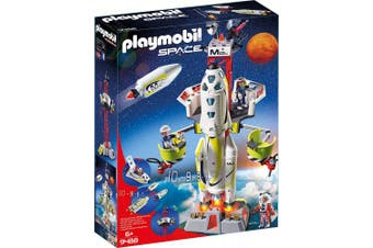 Playmobil 9488 Space Mission Rocket with Launch Site Lights and Sound