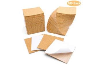 (100) - Blisstime 100 Pcs Self-Adhesive Cork Sheets 10cm x 10cm for DIY Coasters, Cork Board Squares, Cork Tiles, Cork Mat, Mini Wall Cork Board with Strong Adhesive-Backed